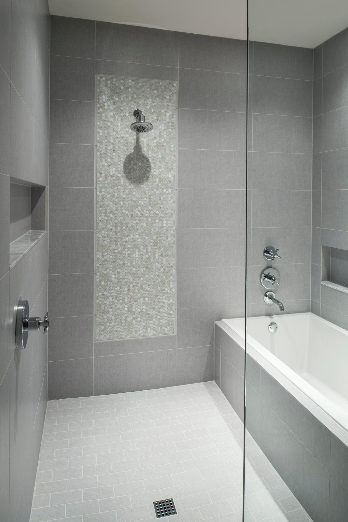 Urban Farmhouse shower by Brianna Michelle Design