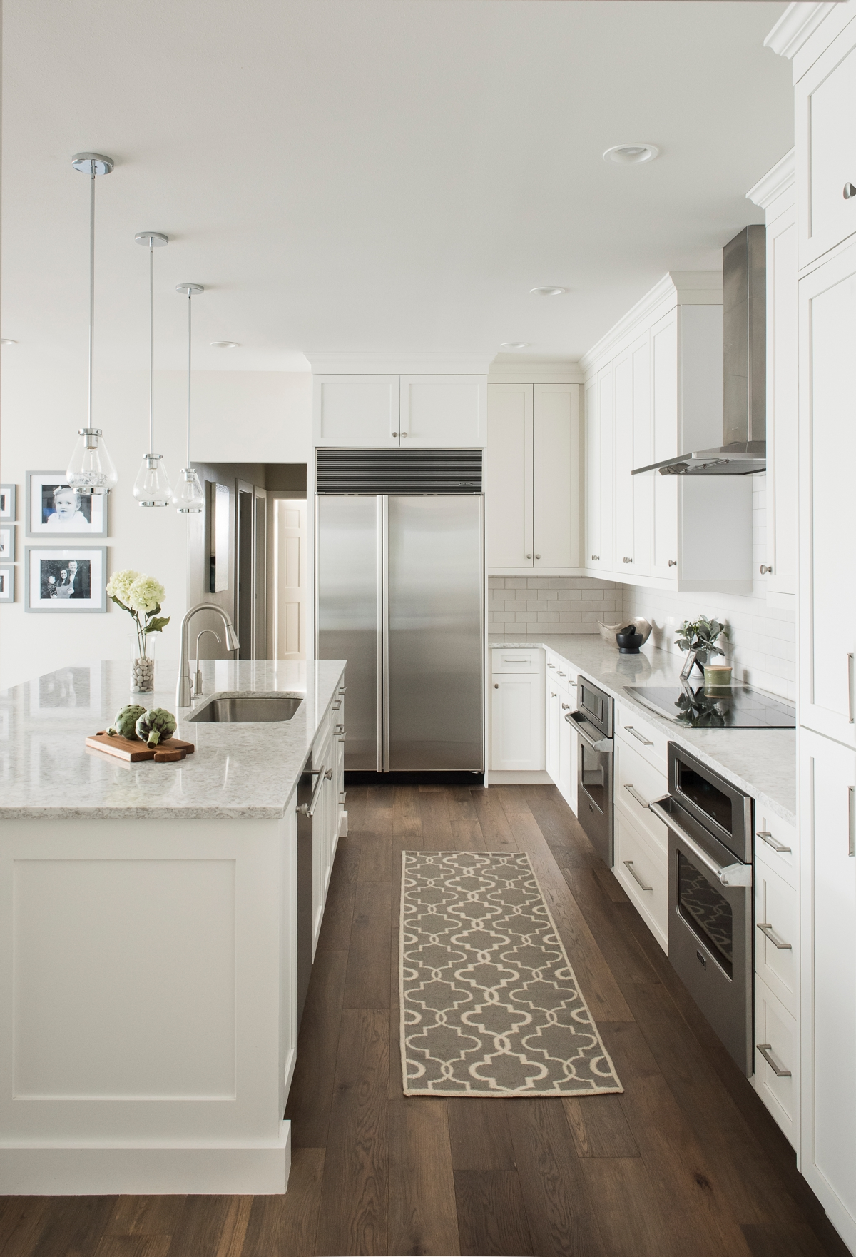Mirror Lake white kitchen by Brianna Michelle Design