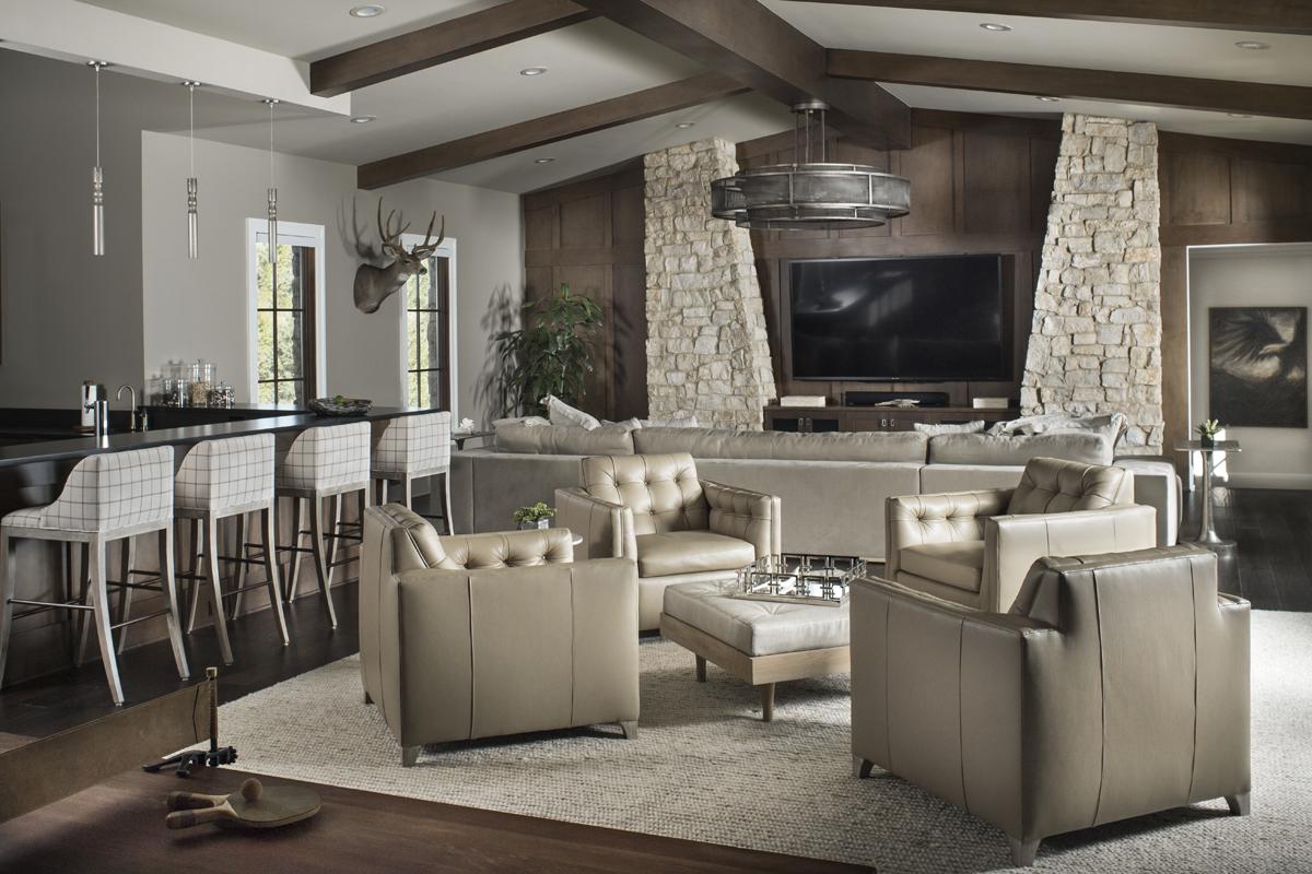 Eagle Preserve family room by Brianna Michelle Design
