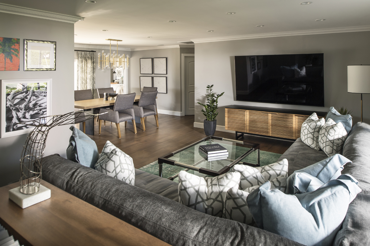 Grand Canal family room by Brianna Michelle Design