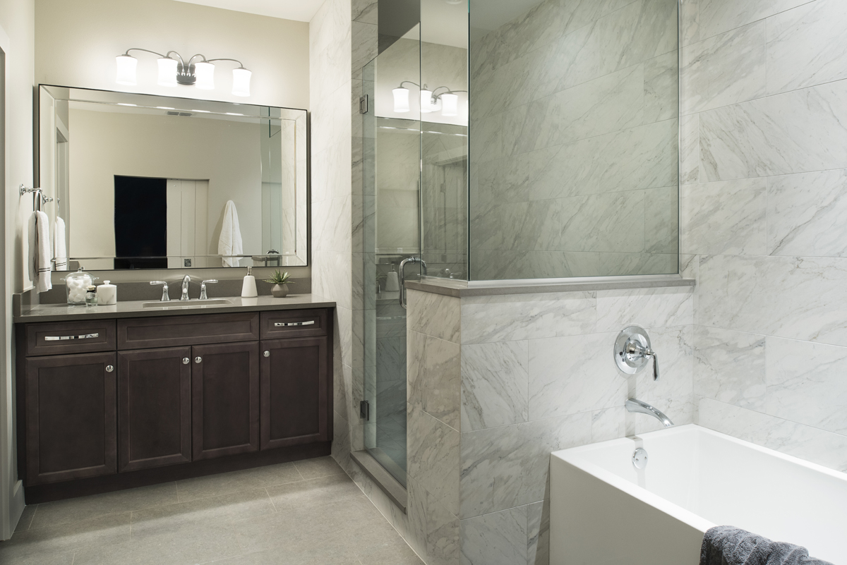 Mirror Lake bathroom by Brianna Michelle Design