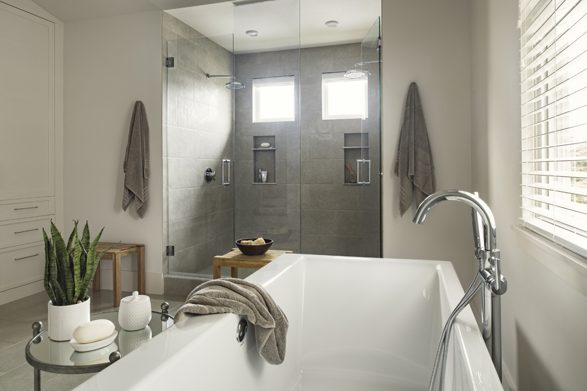 Urban Farmhouse bath by Brianna Michelle Design