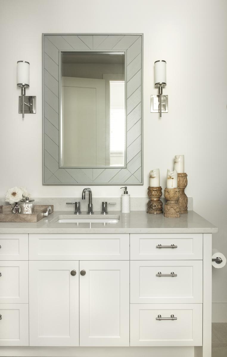 Urban Farmhouse guest bathroom by Brianna Michelle Design
