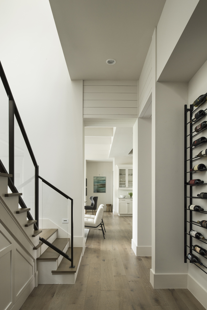 Urban Farmhouse hallway by Brianna Michelle Design