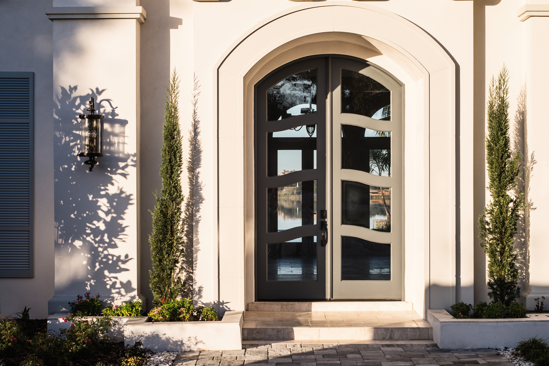 Chateau Pendio front door by Brianna Michelle Design