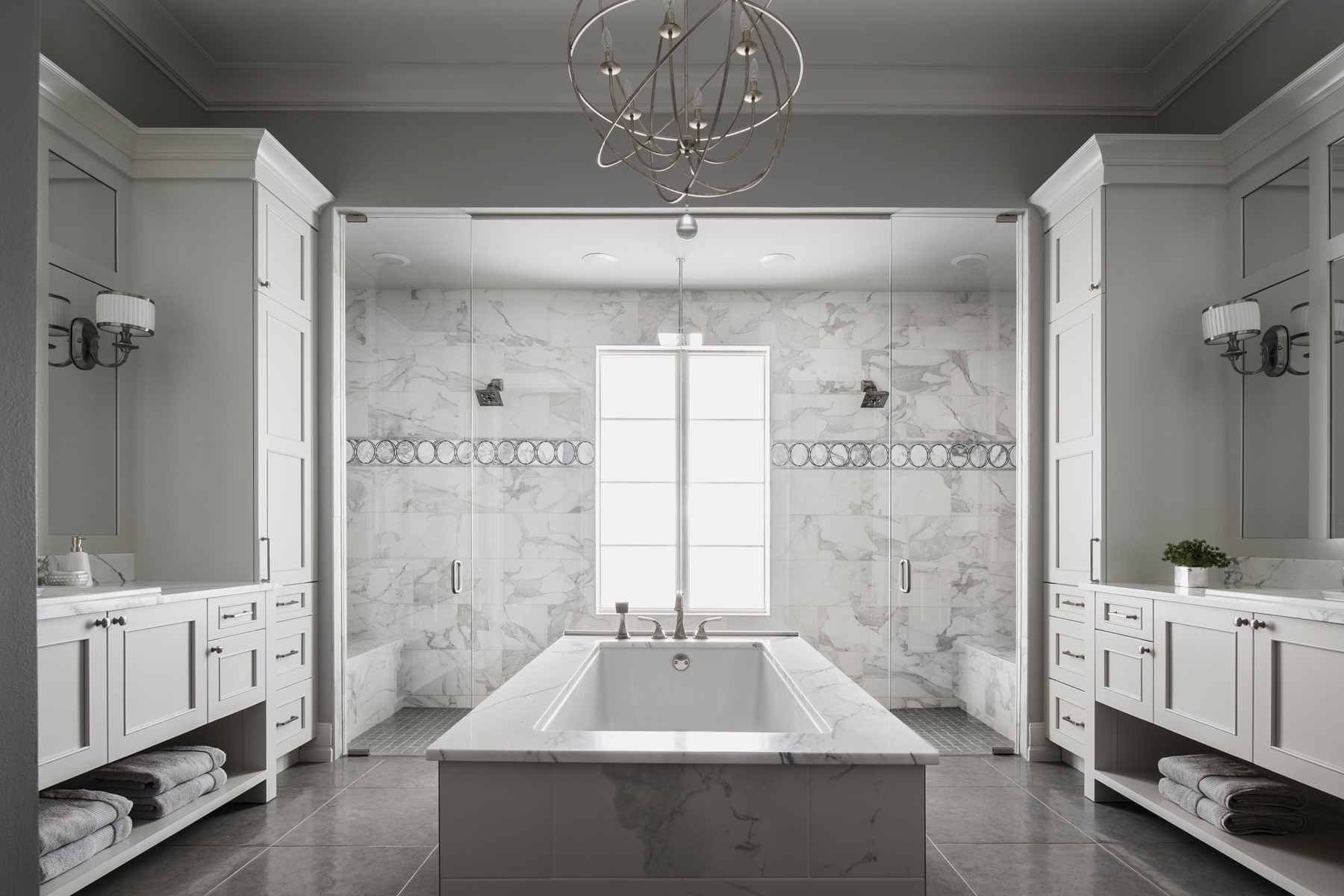Chateau Pendio master bath by Brianna Michelle Design