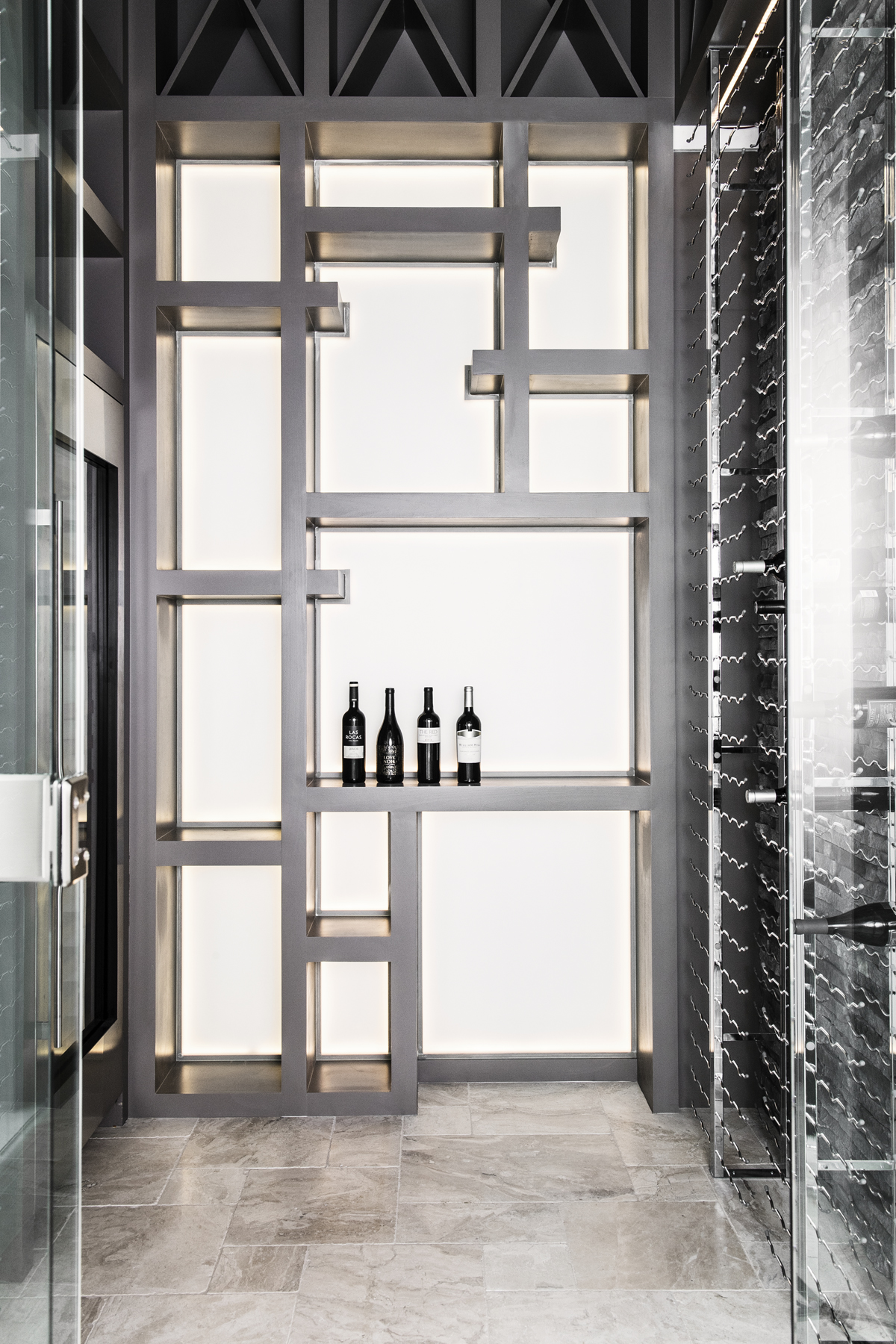 Chateau Pendio wine cellar by Brianna Michelle Design