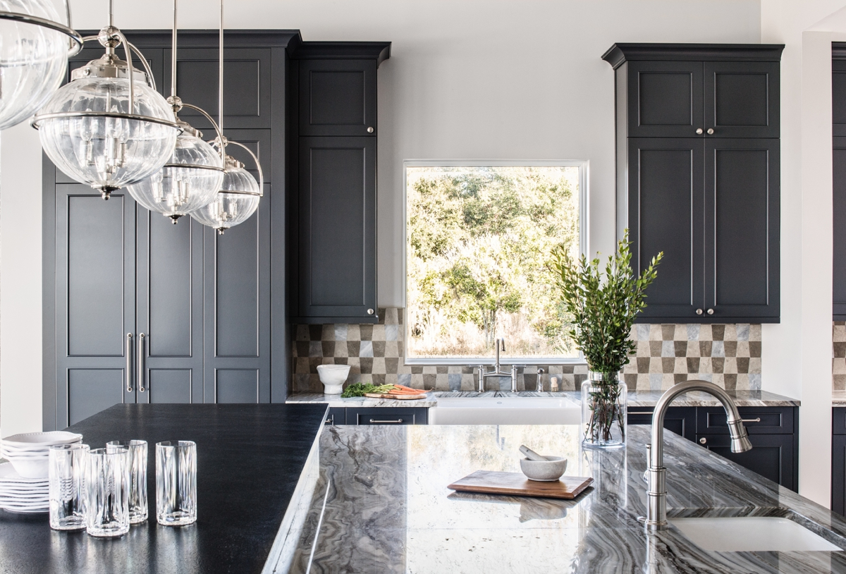 Chateau Pendio contemporary kitchen by Brianna Michelle Design