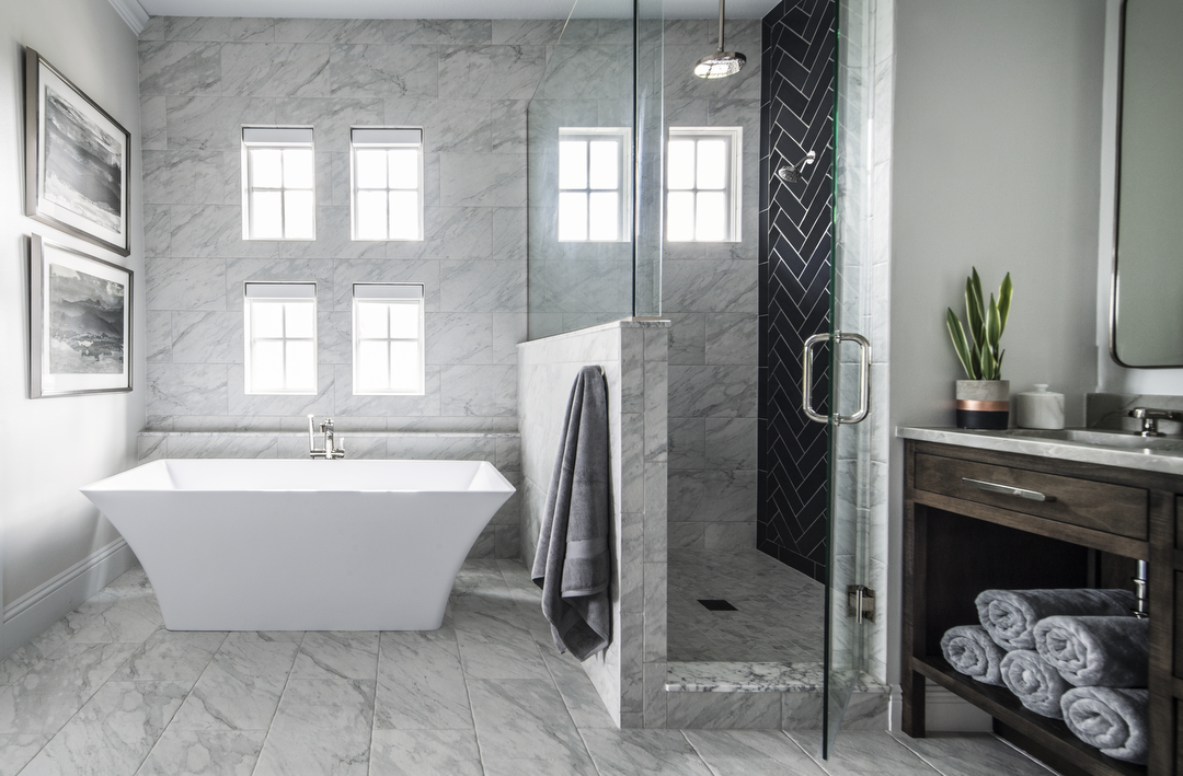 Lake Sybelia master bathroom by Brianna Michelle Design