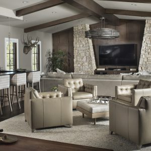 Eagle Preserve family room by Brianna Michelle Design