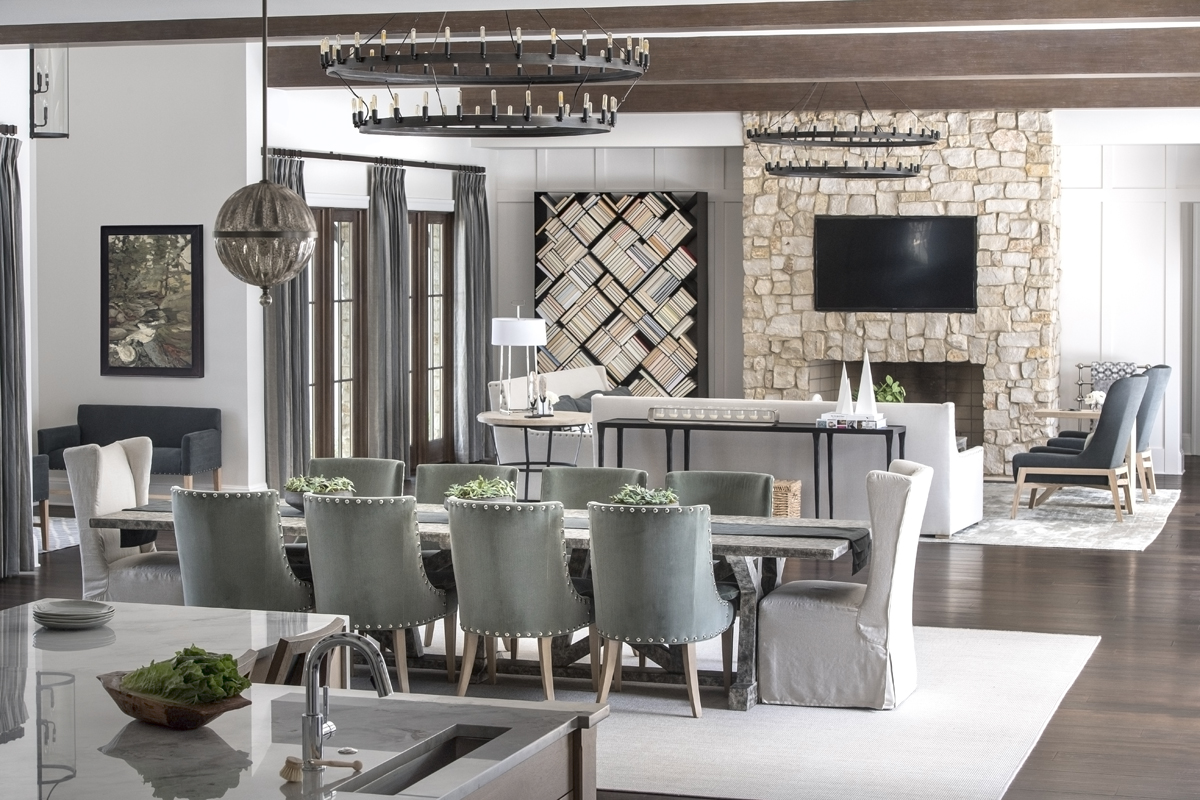 Eagles Preserve contemporary dining room by Brianna Michelle Design