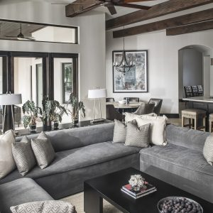 Greatwater Retreat family room by Brianna Michelle Design