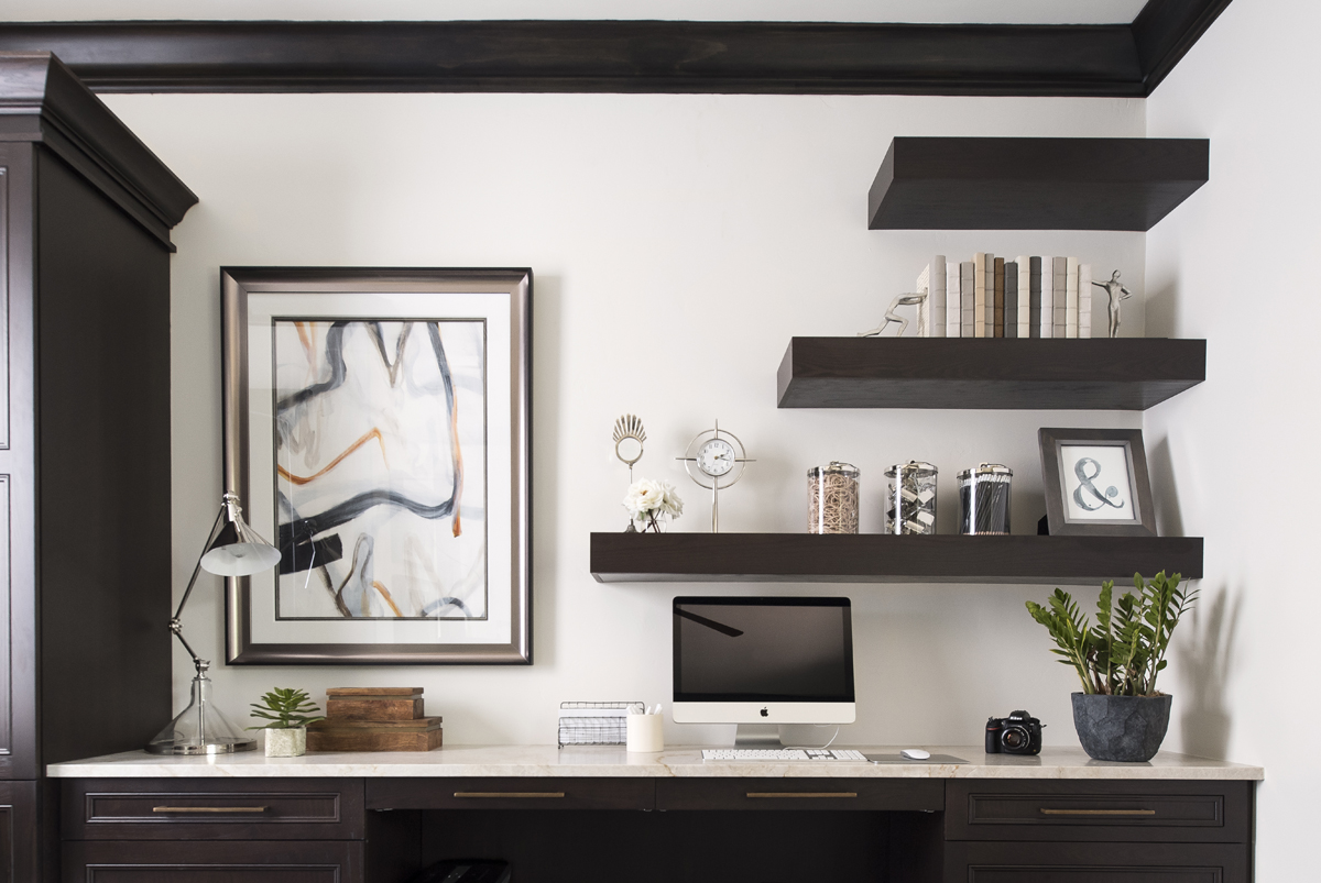 Greatwater Retreat office by Brianna Michelle Design