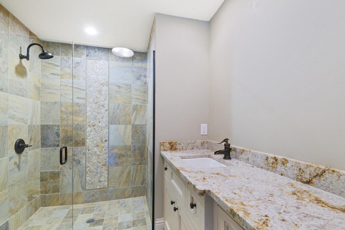 Lakeside Treehouse bathroom by Brianna Michelle Design