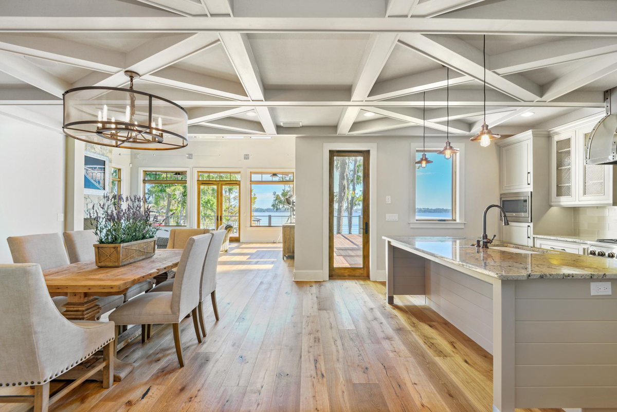 Lakeside Treehouse kitchen and dining by Brianna Michelle Design
