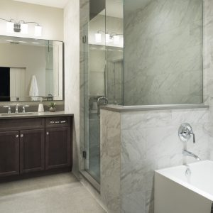 Mirror Lake bathroom by Brianna Michelle Design