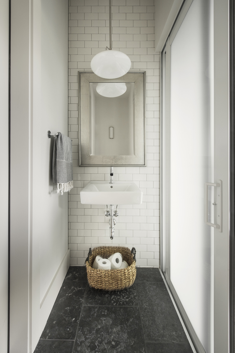 Urban Farmhouse guest bathroom by Brianna Michelle Design