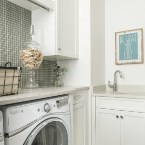 Urban Farmhouse laundry room by Brianna Michelle Design