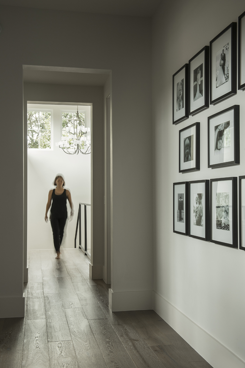Urban Farmhouse hallway by Brianna Michelle Design
