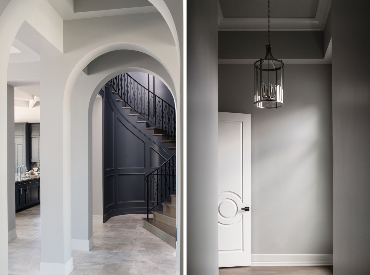 Chateau Pendio gray entryway by Brianna Michelle Design