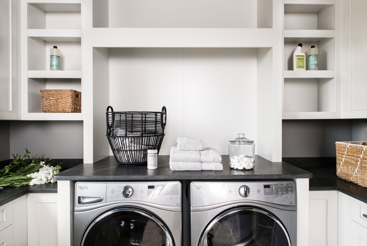 Chateau Pendio contemporary laundry room by Brianna Michelle Design