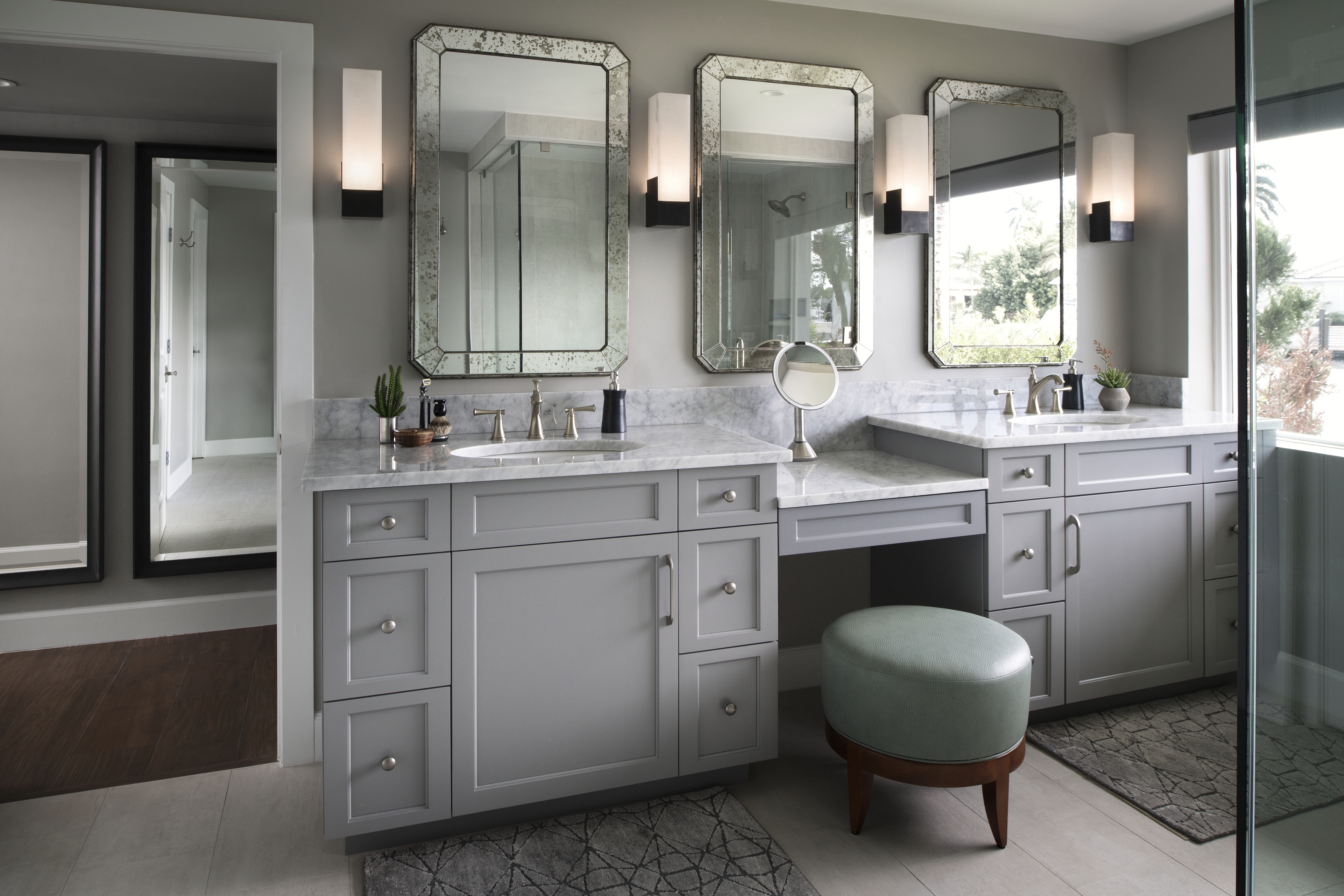 Grand Canal master bathroom by Brianna Michelle Design