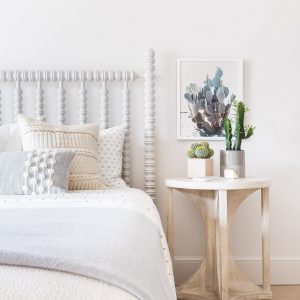 northern frost spare bedroom with soft colors