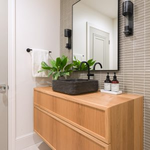 northern frost bathroom with wall tile