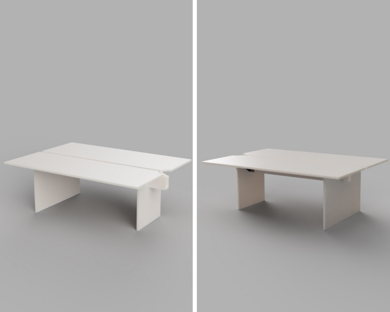 rendering of concrete conference table