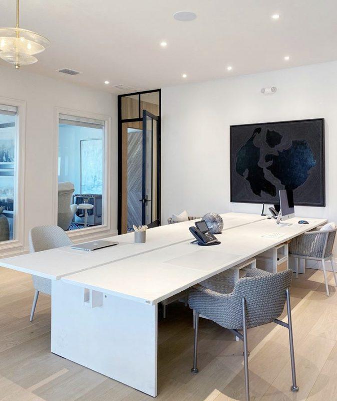 studio inside 1010 on orange with concrete table