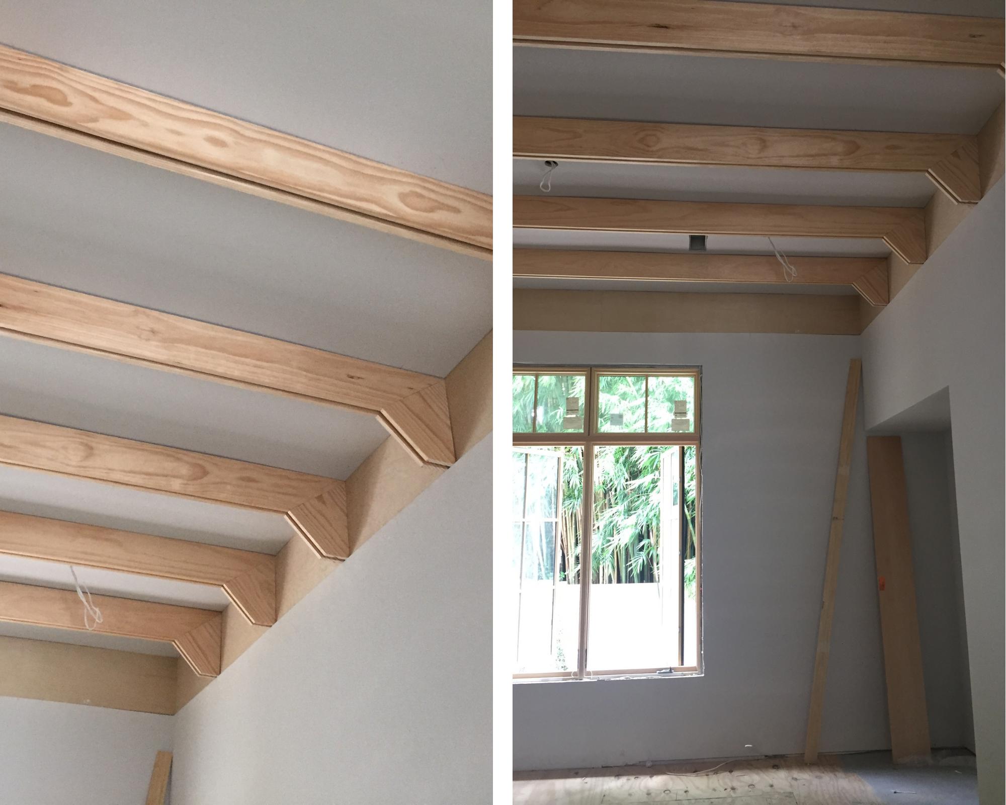 wooden beams modern